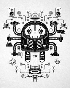 TECHNO GRIM #digital #illustration #art
