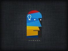 Dribbble - Nomade by Jasvinder Singh #logo #vector #bulf