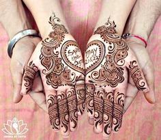 Beautiful heart shape henna art