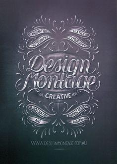 Typeverything.com Design Montage by Aurelie Maron #creative #montage #design #chalk #type