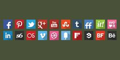 20 Free Flat Shadow Style Original Colour Icons #flat #web #icons #social
