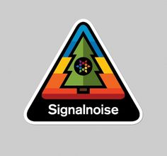 Signalnoise Stickers - Signalnoise - The art of James White #tree #signalnoise #color #sticker #rainbow