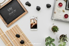 Relaxing yoga composition Free Psd. See more inspiration related to Mockup, Spa, Health, Cute, Yoga, Smartphone, Chalkboard, Mock up, Plant, Decoration, Drawing, Cactus, Bamboo, Healthy, Decorative, Peace, Mind, Balance, Draw, Relax, Pot, Meditation, Wellness, Healthy lifestyle, Candles, Lifestyle, Up, Tablecloth, Stones, Relaxation, Relaxing, Composition, Mock, Peaceful and Inner on Freepik.