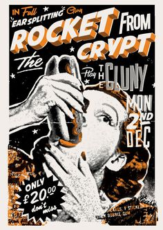 Rocket from the Crypt gig poster. #gig #print #screen #illustration #poster #rftc