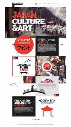 Culture&Art - Japanese #white #red #modern #site #design #japanese #culture #minimal #art #minimalist #web #japan