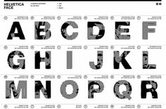 Helvetica Face | Shiro to Kuro #typography #helvetica #black and white #pattern  *alphabet of people*
