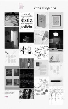 Chris Magiera on Grid Based #website #design #graphic #black