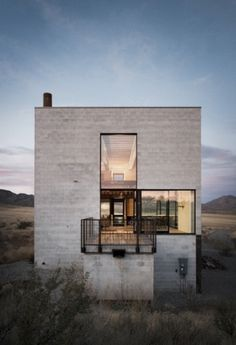 The Pursuit Aesthetic #concrete #balcony #architecture #windows #desert