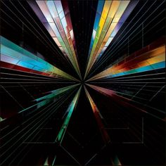 Geometric work by Andy Gilmore « Is it nice..? #bright #mirrored #futuristic #geometric