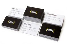 Frame by Decimal #frame #business #yellow #video #decimal #cards