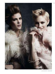 Lindsay Lullman & Louise Donegan by Natalia Alaverdian for Harper's Bazaar Russia
