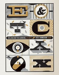 Erland and The Carnival Poster - Telegramme Studio #illustration #telegramme #poster #typography
