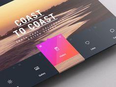 Weather Dashboard / Global Outlook (3) #pattern #weather #ux #pink #portal #ui #dashboard #app #summer #gradient #beach #waves