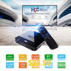 Android #9.0 #TV #Box #RK3228A #1GB #8GB #or2GB #16GB #2.4G #5G #WiFi #Bluetooth4.0 #4K #3D #Media #Player