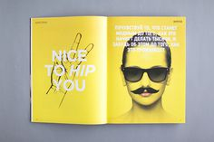 Hipster Magazine 1 / 2 / 3 / 4 issues. on Editorial Design Served #editorial #yellow #layout