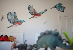 Flying Bluebirds wall decals by FLOX // available online at The Decal Shop: http://www.yourdecalshop.co.nz/ #interior #birds #sticker #wallpaper