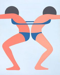 Geoff McFetridge | PICDIT #design #art #simple #graphic #painting