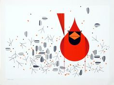Ford Times Art | Charley Harper Gallery #illustration #animal #red #bird #harper