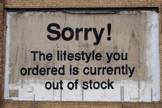 Banksy - Outside #typography #street art #humor #banksy
