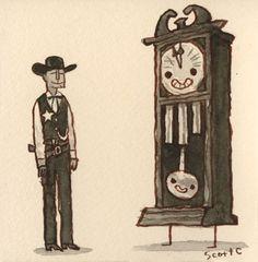 GREAT SHOWDOWNS by scott c. #c #showdowns #campbell #the #illustration #scott #great