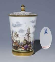 Beaker with lid #Sets #Teasets #Porcelainsets #Antiqueplates #Plates #Wallplates #Figures #Porcelainfigurines #porcelain