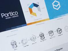 Portico identity #logo #styleguide