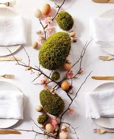 Easter Decorations, Egg Designs & Ideas 2019/2020 #Easter #decor #ideas #homedecor #diy #tabletop #moss