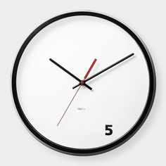 5 O'Clock Wall Clock #tech #flow #gadget #gift #ideas #cool