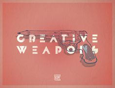 Creative Weapons on behance #line #grzunov #pistol #illustration #type #pencil
