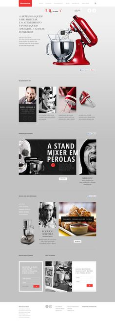 KITCHEN AID Caio Rogério #webdesign #red #grey #kitchen aid #photographics