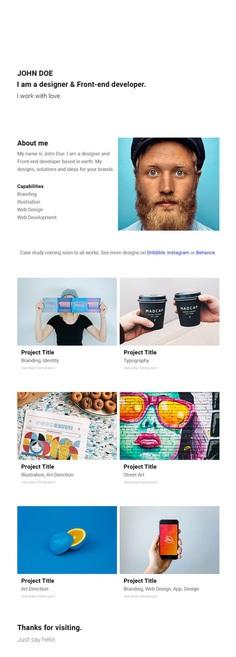 Barts - Simple & Minimal Portfolio