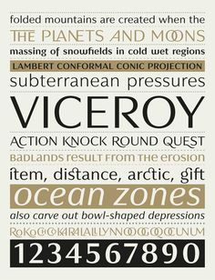 Viceroy typeface #font #serif #sans #characterset #typeface #ligature #letterform #type #typography