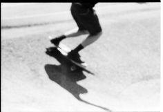as the stars die #skateboard #skate #black #and #white #blur