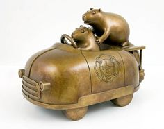 Tom Otterness >> Exhibitions >> Animal Spirits #bronze #tom #sculpture #otterness