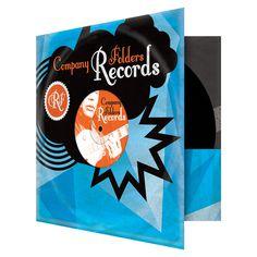 Stormcloud Record Label Folder Template #folders #presentation #label #pocket #record #music #folder