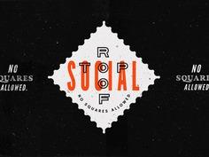 The Roof is on Fire. emblem art direction social graphic design grand rapids identity logo design bar roof branding brand badge logo ___ Josh Kulchar