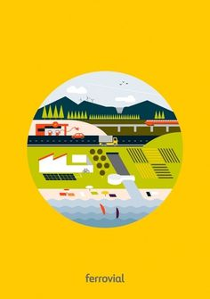 Ferrovial | Hey #circle #illustration #design #geometric