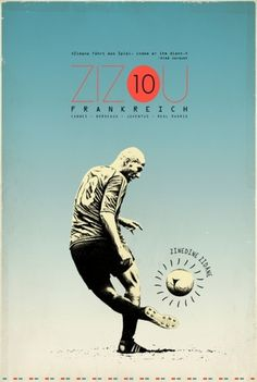 Sucker for Soccer on the Behance Network #zidane #france #design #graphic #soccer #zizou #football