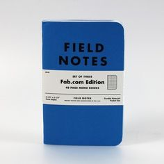swissmiss   Blue Fab Field Notes #note book #field notes #fab