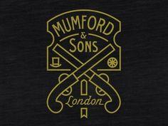 Dribbble - Mumford Pistols by Brandon Rike #mumfordsons #rike #london #pistols #black #gold #brandon #typography