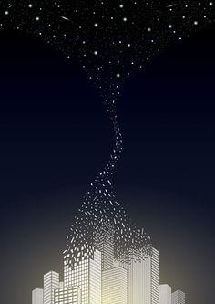 Let The Stars Art Print by Rebecca Charlton Easyart.com