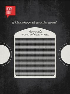 A Clever Visual Representation Of Famous Quotes | Marvelous #ford #quote #invention #automobile #design #graphic #grill #engine #illustration #transport #vintage #art #headlights #car #typography