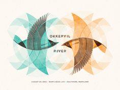 Okkervil River #okkervil #dkng #river #poster