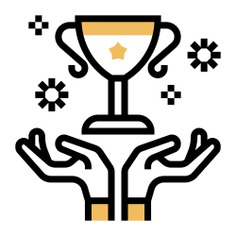 See more icon inspiration related to win, success, hands and gestures, triumph, achievement, miscellaneous, hands and trophy on Flaticon.