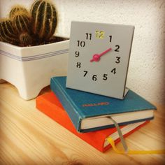 Desk Clock From Block