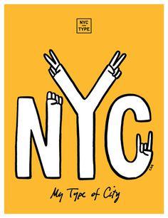 NYCT_X_CDR Print cdryan.com #type #poster