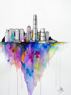 CJWHO ™ (Watercolors by Marc Allante Hong Kong born...) #marc #allante #design #illustration #art #watercolor