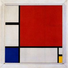 Mondrian - Composition with Red, Blue, and Yellow #Mondiran #Composition