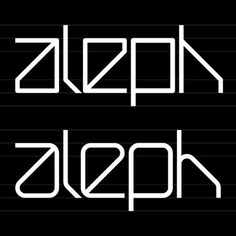 Aleph Font / Exploration. Niketo Aleph is a minimal modular font inspired by New Alphabet by Wim Crouwel.
