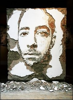 Alexandre Farto aka Vhils Selected Works #photography #art #street